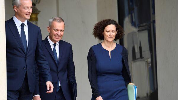 Bruno Le Maire (L), Francois de Rugy (C) et Emmanuelle Wargon - Sputnik France