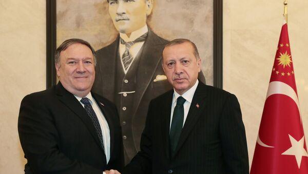 Tayyip Erdogan et Mike Pompeo - Sputnik France