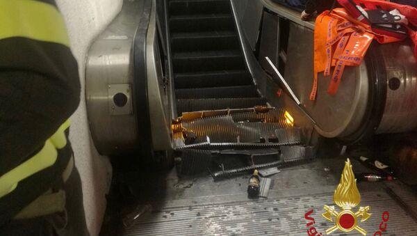 l'accident d'escalator dans le métro de Rome - Sputnik France