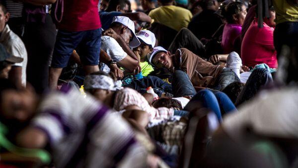 Miles de migrantes centroamericanos descansan en el parque Miguel Hidalgo de Tapachula para seguir su camino al norte de México - Sputnik France
