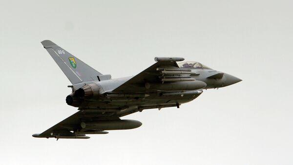 Un Eurofighter Typhoon de la Royal Air Force (RAF) - Sputnik France