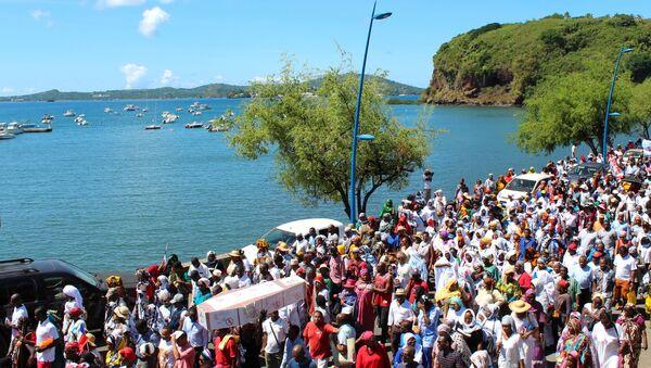 Manifestation à Mamoudzou le 10 mai 2018 contre un éventuel changement de statut de Mayotte - Sputnik France
