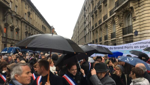 Manifestation de maires des collectivités locales d'Ile-de-France - Sputnik France