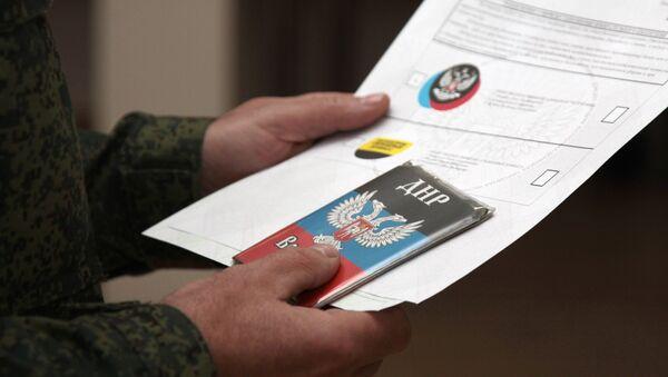Досрочное голосование на выборах главы ДНР - Sputnik France