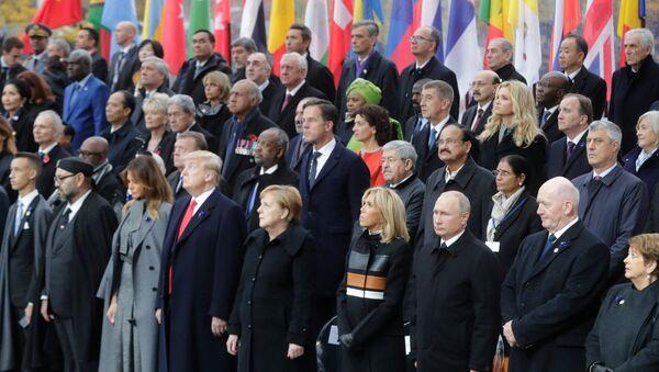 Vladimir Poutine participe à la commémoration de l'armistice à Paris (11 novembre 2018) - Sputnik France