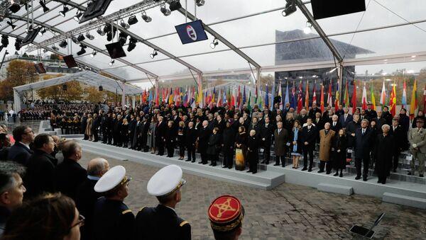 La commémoration du centenaire de l'armistice de 1918 à Paris - Sputnik France