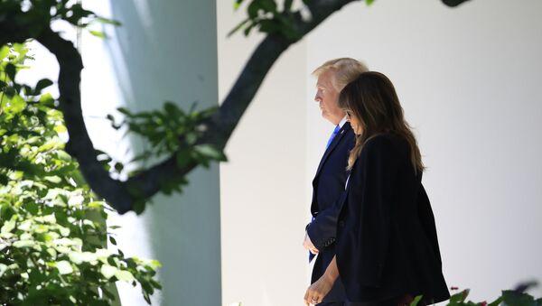 President Donald Trump and first lady Melania Trump - Sputnik France