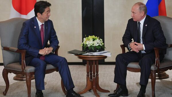 Shinzo Abe et Vladimir Poutine à Singapour - Sputnik France