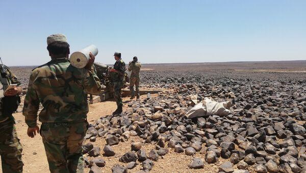 Les militaires syriens à Tulul al-Safa - Sputnik France