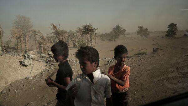 Des enfants yéménites (image d'illustration) - Sputnik France
