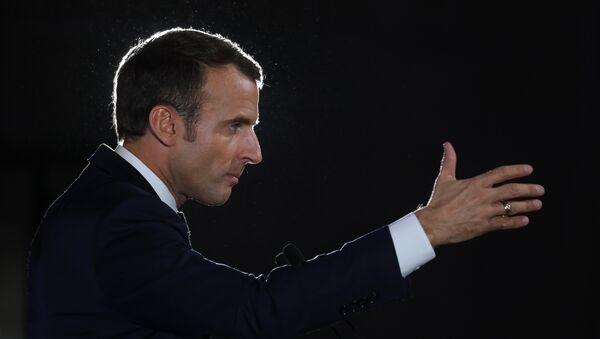 French president Emmanuel Macron gestures as he speaks during the economic event Choose Grand Est in Pont-a-Mousson, northeastern France on November 5, 2018 - Sputnik France