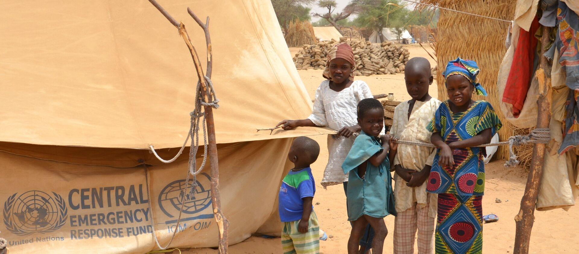 Un camp de réfugiés au Niger - Sputnik France, 1920, 12.01.2021