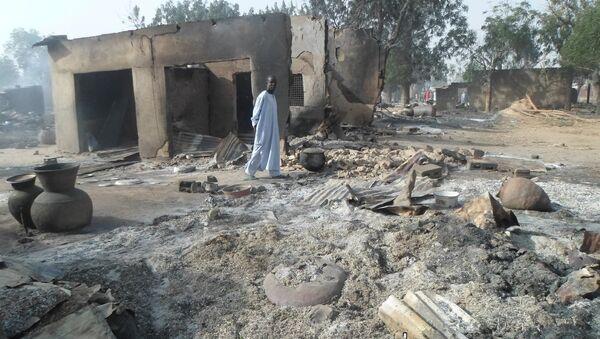 Un village nigérian attaqué par Boko Haram (archive photo) - Sputnik France