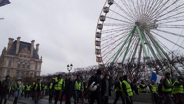 Gilets jaunes le 1 décembre 2018 à Paris (Louvre) - Sputnik France
