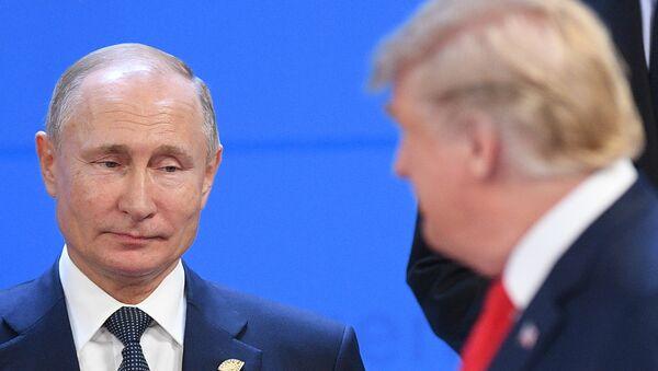 Vladimir Poutine et Donald Trump en Argentine  - Sputnik France