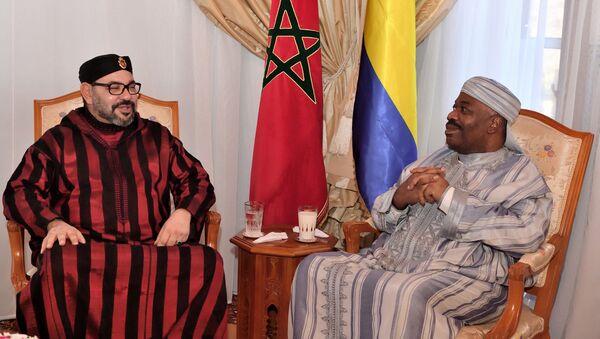 Le roi Mohammed VI et le Président Ali Bongo Ondimba - Sputnik France