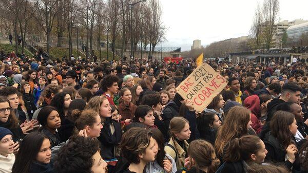 Mobilisation des lycéens contre la réforme du Bac à Paris - Sputnik France