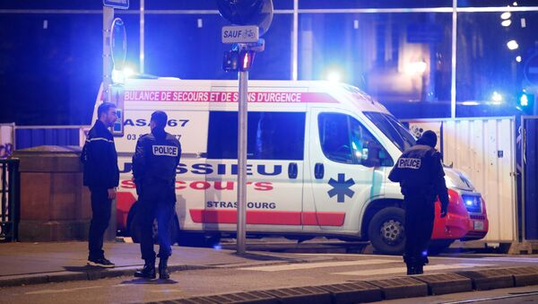 Des agents de police sur lieu de la fusillade à Strasbourg le 11 décembre - Sputnik France
