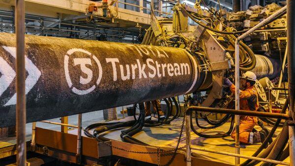 Construction du Turkish Stream - Sputnik France