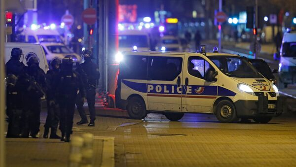 French special police forces secure an area during a police operation in the Meinau district after the deadly shooting in Strasbourg, France, December 13, 2018. - Sputnik France