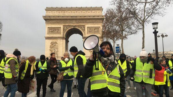 L'acte 5 des Gilets jaunes sous haute surveillance à Paris, 15 décembre 2018 - Sputnik France
