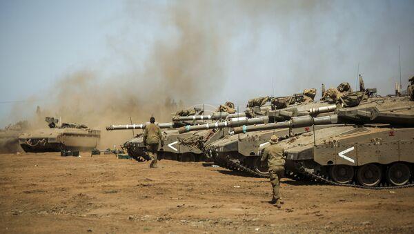 Des chars Merkava et des véhicules blindés Namer israéliens - Sputnik France