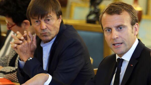 Emmanuel Macron avec Nicolas Hulot - Sputnik France