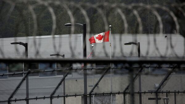 A Canadian flag flies outside of the Alouette Correctional Centre for Women, where Huawei CFO Meng Wanzhou is being held on an extradition warrant, in Maple Ridge, British Columbia, Canada December 8, 2018 - Sputnik France