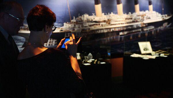 Un stand de l'expostion consacrée au Titanic à Moscou - Sputnik France