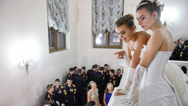 Le Bal des cadets de Rosgvardia à Moscou - Sputnik France