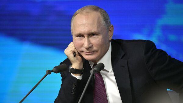 20 décembre 2018. Président RF Vladimir Poutine lors de la conférence de presse annuelle - Sputnik France