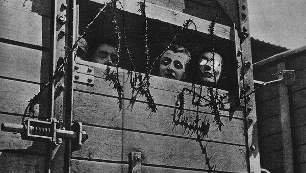 Juifs emmenés dans un camp d'extermination nazi pendant la Seconde Guerre mondiale - Sputnik France
