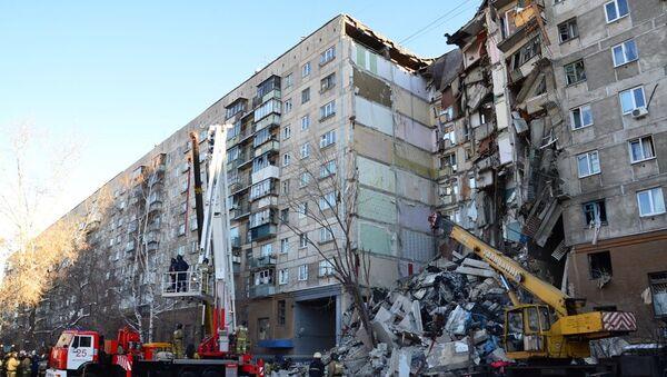 L'immeuble de Magnitogorsk touché par une explosion de gaz le 31 décembre 2018 - Sputnik France