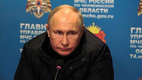 Vladimir Poutine à Magnitogorsk où une explosion de gaz dans un immeuble a fait plusieurs morts - Sputnik France