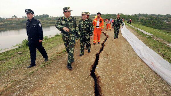 Un barrage dans la province de Sichuan après le séisme de 2008 (archive photo) - Sputnik France