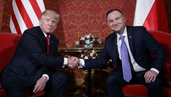 Donald Trump et Andrzej Duda - Sputnik France