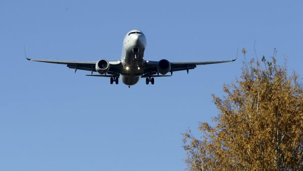 Turkish Airlines Airbus A330 aircraft approaches Riga International airport, Latvia, October 28, 2015 - Sputnik France