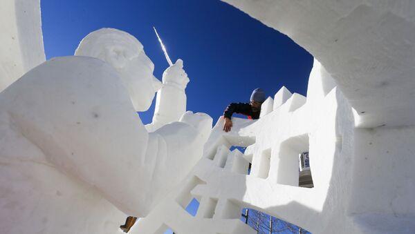 Incroyables sculptures de neige à travers le monde - Sputnik France