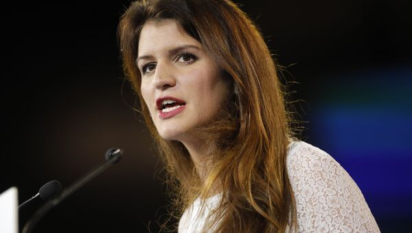 In this Nov.18, 2017 file photo, French deputy minister in charge of Equality between Women and Men Marlene Schiappa delivers a speech in Chassieu, near Lyon, central France. - Sputnik France