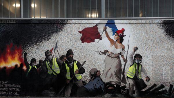 À Paris, une fresque consacrée aux Gilets jaunes cache un mystère et un gain de 1.000 EUR - Sputnik France