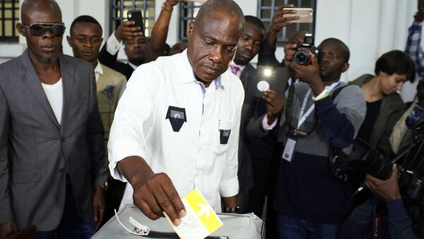 Businessman and candidate Martin Fayulu casting his own vote in DR Congo's presidential elections on December 30 - Sputnik France