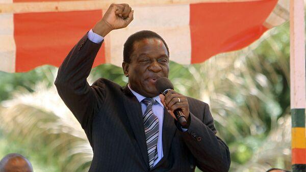Le président zimbabwéen, Emmerson Mnangagwa  - Sputnik France