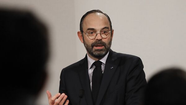 French Prime Minister Edouard Philippe delivers his speech during a press conference in Paris, Wednesday, Jan. 9, 2019. - Sputnik France