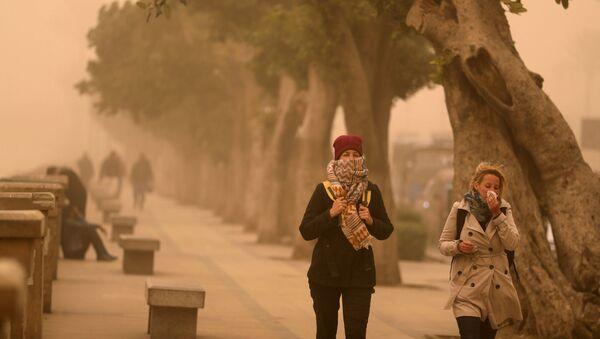 Le khamsin bat son plein: une tempête de sable en Égypte - Sputnik France