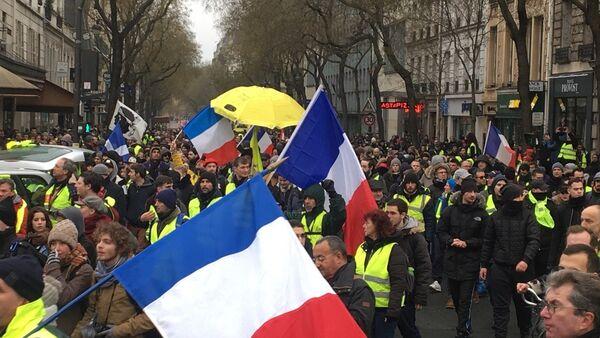 Gilets jaunes à Paris, le 19 janvier 2019 - Sputnik France