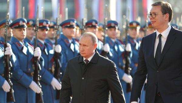 Vladimir Poutine et Aleksandar Vucic à Belgrade - Sputnik France