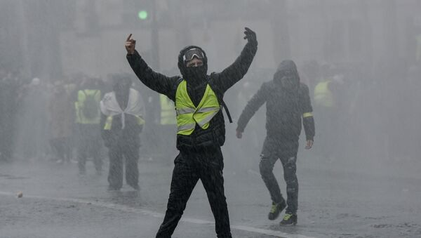 Acte 10 des Gilets jaunes à Paris (image d'illustartion) - Sputnik France