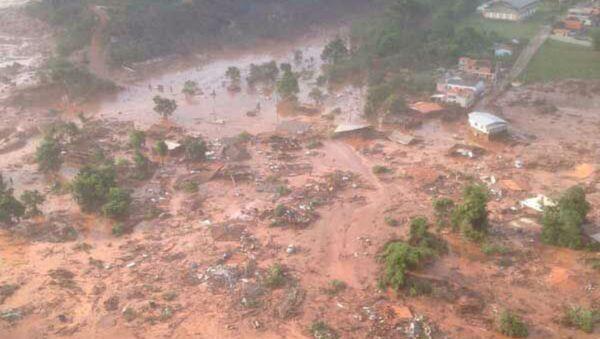 Rupture du barrage de déchets miniers de Bento Rodrigues (archive photo) - Sputnik France