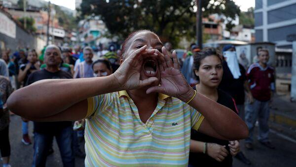 Protestations à Caracas, Venezuela - Sputnik France