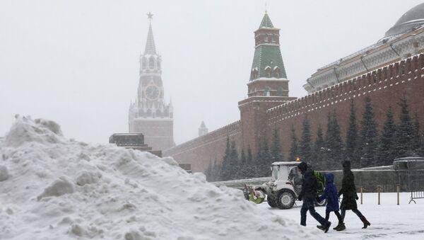 Снегопад в Москве - Sputnik France